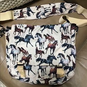 Horse horses messenger crossbody bag laptop purse